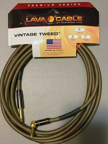 Lava Cable Vintage Tweed Instrument Cable 15