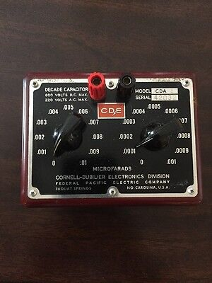 Vintage Cornell-dubilier Cde Capacitor