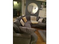 Next positano Grey Sofa with swivel chair