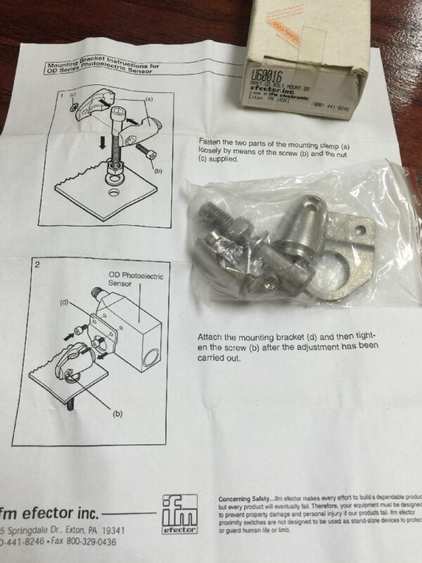 Efector clamp mounting bracket set, U60016 NEW FREE SHIPPING