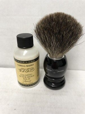 Edwin Jagger Best Badger Brush (Black) + Caswell Massey Almond After Shave