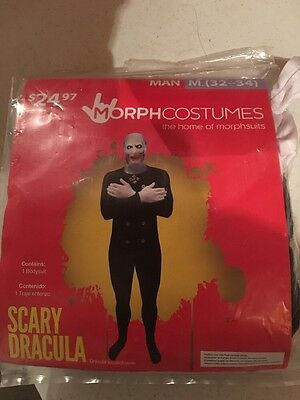 Halloween Costume Men's Scary Dracula Original Morph Costumes Medium 32-34 (Original Halloween Costumes For Men)
