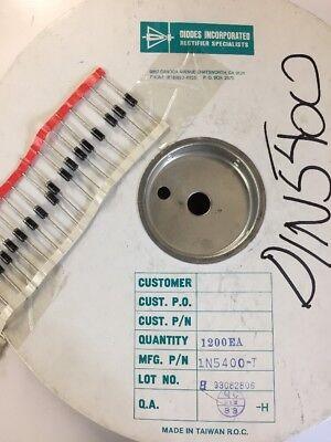 Tape Of 25 Diodes Inc. 1n5400 1n5400-t Diode Gen Purp 50v 3a Do201ad