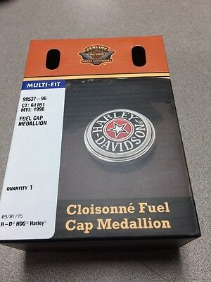 Harley Davidson  Softail Dyna Sportster Flhr Gas Fuel Tank Cap Cover Medallion
