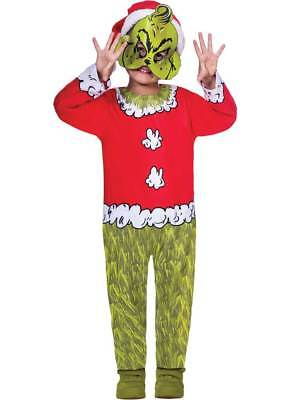 y Dress Dr Seuss Christmas Kids Childrens Elf Santa Costume (Grinch Kostüme)