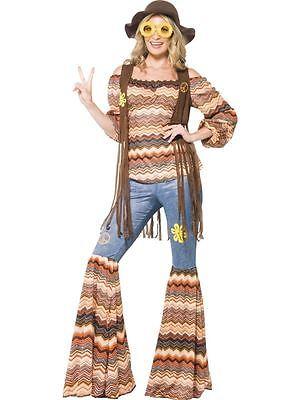 Harmony Hippie Kostüm, EU 40-42, 1970 Disco Kostüm #DE ()