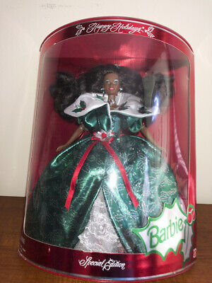 1995 Happy Holidays 1995 Barbie Mattel Special Ed. African American - Happy Holidays Special Ed