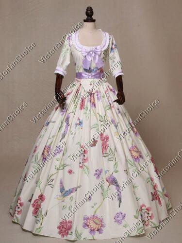 Victorian Fantasy Alice in Wonderland Fancy Dress Tea Party Garden Gown 393
