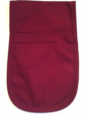 1 New Fame Fabrics Burgundy F31 Money Pouch Apron - Brand New