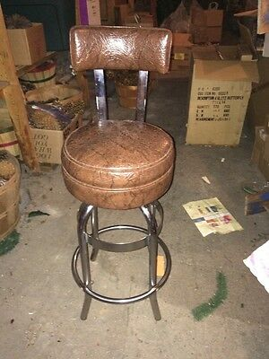 - Vintage MID CENTURY MODERN INDUSTRIAL DRAFTING BAR STOOL CHROME Helene Curtis
