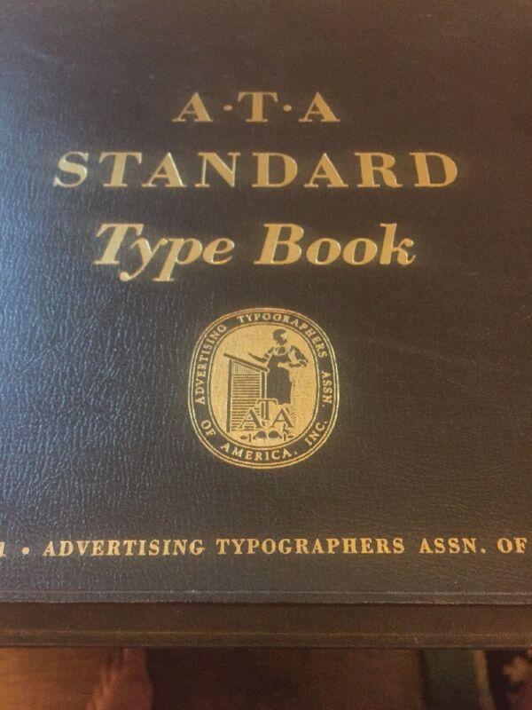 Vintage Advertising Typographers Association Type Book