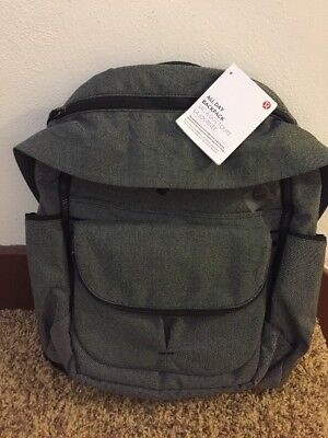 NWT Lululemon All Day Backpack With Removable Cross-body Bag BLK/WHT