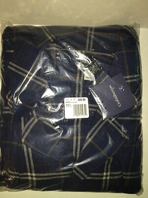 CROFT+BARROW Big & Tall Men's Flannel Pajama Sleep Set BLUE BROWN PLAID 3XB NWT
