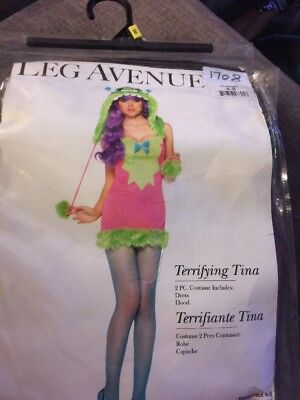 NEW HALLOWEEN Costume Terrifying Tina Monster Sexy Leg Avenue Adult Small 4-8](Halloween Terrifying Costumes)