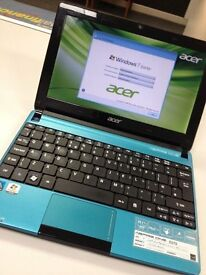 """Blue Acer Aspire One D270 10.1"""" Dual Core 320GB Netbook HDMI"""