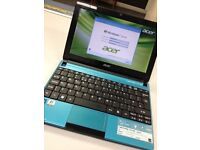 "Blue Acer Aspire One D270 10.1"" Dual Core 320GB Netbook HDMI"