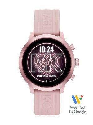 New Genuine Michael Kors Ladies Gen 4 MKGO Pink Rubber Strap Smartwatch MKT5070