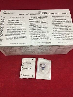 Box Of 50 Cardinal Health Alaris Smartsite Multi-dose Vial Access Device 2205e