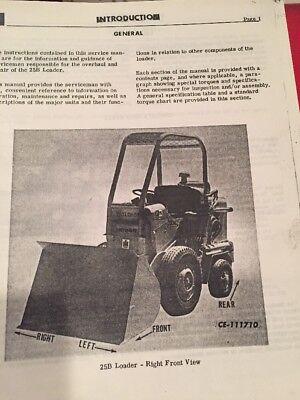 International Hough H-25b Pay Loader Service Manual Photocopy Of Original Manual