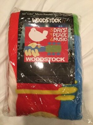 "(Woodstock Micro Raschel Fleece Throw Blanket 50"" X 60"")"