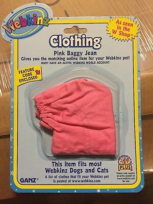 Pink Baggy Jean - Webkinz Clothing Pink Baggy Jean With Online Code From Ganz Plush