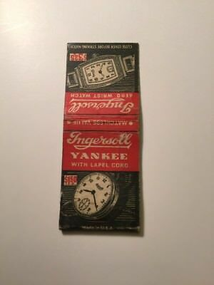 Vintage Matchbook Cover Ingersoll Watch Company $1.50 Pocket Watch