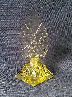 Vintage Czech Czechoslovakian Cut Crystal Perfume Bottle