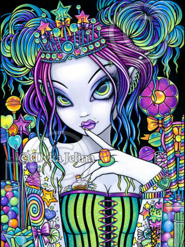 Sweet Tooth Signed Myka Jelina Art Candy Rainbow Tattoo Icecream Cupcakes