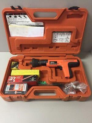 Ramset Cobra Red Head Semi Auto 27 Caliber Powder Tool W Case And Accessories