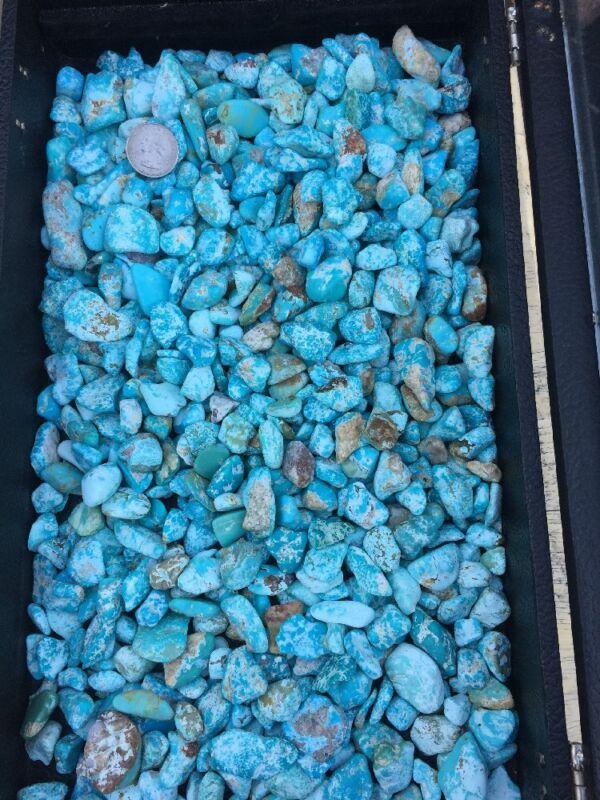 1/2 Pound Lot Old Stock Kingman, AZ Turquoise Tumbled Rough Cabbing Sky Blue