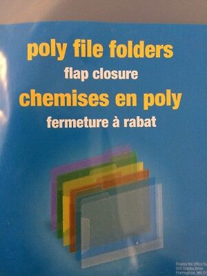 Poly File Folders Project Pocket Letter Storage Office Supplies 6pcs Fast Ship