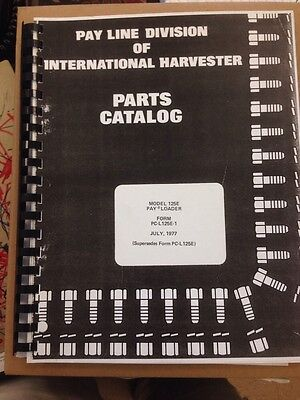 International Ih Dresser 125e Crawler Loader Parts Manual Pc-l-125e