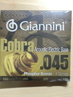 - Giannini Phosphor Bronze 4 String Acoustic Bass Strings .045 - .100