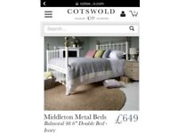 Cotswold metal double bed frame