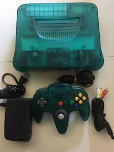 *****CONSOLE NINTENDO 64 EDITION ICE BLEU A VENDRE / NINTENDO 64 N64 ICE BLUE EDITION SYSTEM FOR SALE*****