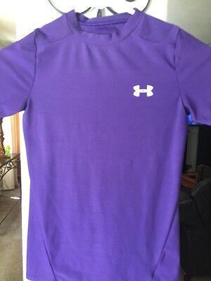 Under Armour Athletic Shirt Size Youth Medium Heatgear