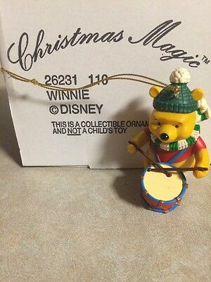 - Disney Grolier CHRISTMAS MAGIC WINNIE THE POOH BEAR Drum 110 Ornament NEW