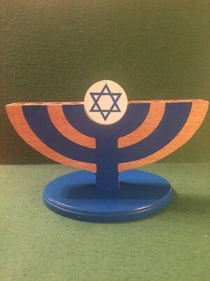 KidKraft Wood Menorah Hanukkah Star Of David Children's Holiday Decor