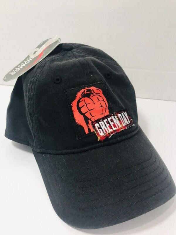 GREEN DAY Black Cap Hat Stretch Fit NEW Embroidered Grenade American Idiot OSFM
