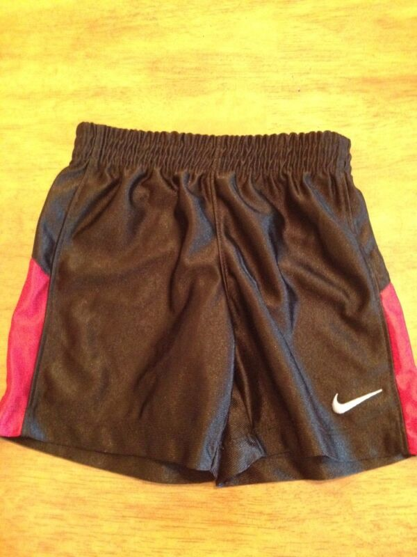 Boys Nike Shorts Size 24 Months In Black/red