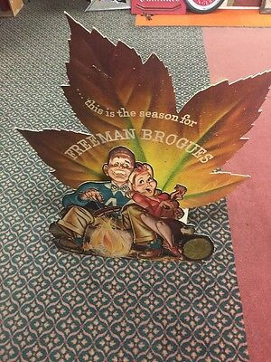"VINTAGE FREEMAN BROGUES POPOUT DISPLAY SIGN. VINTAGE ADVERTISING. 36"" X 42"""