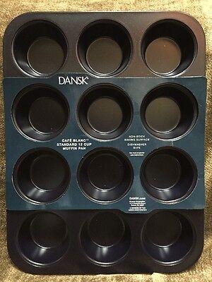New Dansk CAFE BLANC Standard 12 Cup Muffin Pan Baker Non Stick
