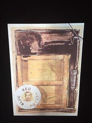 """Jasper Johns """"Souvenir"""" 35mm Color Slide. Pop Art Neo-dadaist"""