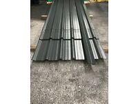 Box profile roofing sheets, slate grey polyester 1 meter cover