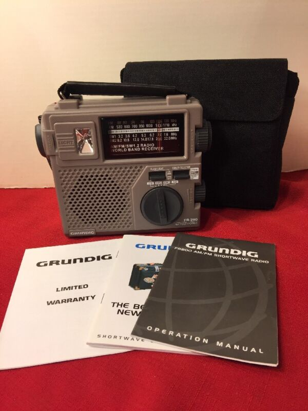 Grundig FR200 AM/FM Shortwave Radio Recycle Power
