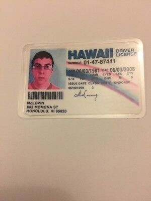 McLovin Hawaii Novelty ID Replica From Superbad