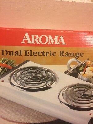 Double Burner Portable Cooktop Aroma Freestanding Dual Electric Range Stove Top