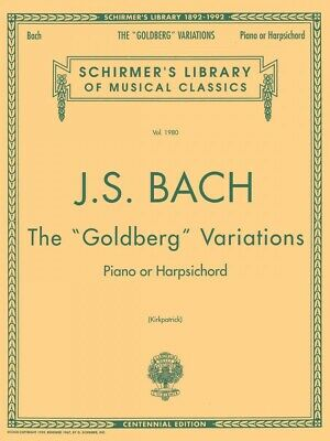 Bach: Goldberg Variations Schirmer Library - Sheet Music Piano Solo 050481953