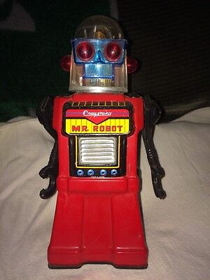 Vintage CRAGSTANS MR. ROBOT Tin Battery Operated Toy MADE IN JAPAN