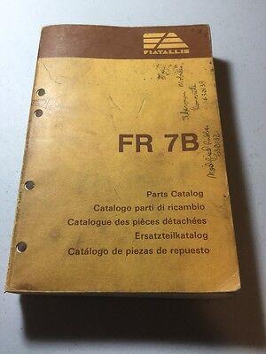 Fiat Allis Fr7b Wheel Loader Parts Catalog Pn 604.01.150